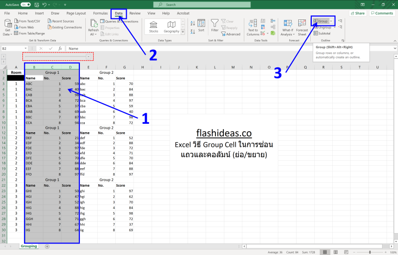 Excel tips - Grouping